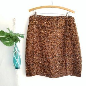 Larry Levine Animal Print Skirt